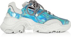 Designer Shoes, Billy Holographic Effect Women's Sneakers
