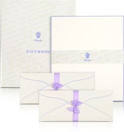 Designer Writing Instruments, Empress - 50 Sheets White Letter with Handpainted Border