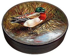 Designer Jewelry Boxes, Oil on Leather Jewelry Box