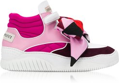 Designer Shoes, Three-Tone Pink Sneakers w/ Signature Velcro Strap