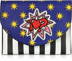 Designer Handbags, Miracle Pop Love Leather Clutch