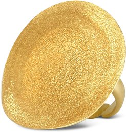Designer Rings, Golden Silver Etched Round Ring