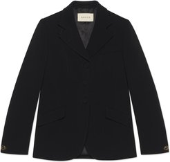 Cady viscose tailored jacket