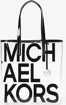 The Michael Large Graphic Logo Print Clear Tote Bag