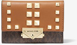 Cece Small Studded Logo and Leather Wallet