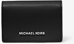 Small Two-Tone Crossgrain Leather Wallet