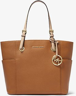 Jet Set Medium Pebbled Leather Tote Bag