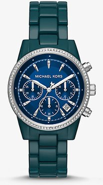 Ritz Pavé Teal Coated Watch