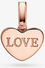 14K Rose Gold-Plated Sterling Silver Heart Charm