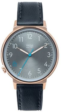 Leather Strap Watch, 44Mm