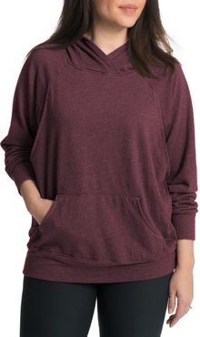 Relaxed Daily Maternity Nursing Hoodie, Size Medium - Red