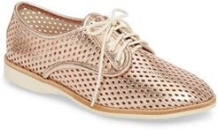 Punch Perforated Derby, Size 5US / 36EU - Pink