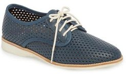 Punch Perforated Derby, Size 7US / 38EU - Blue