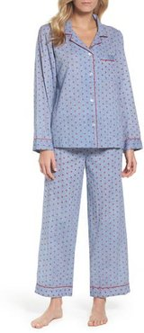 Washed Cotton Pajamas, Size X-Small - Blue