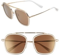 Blanc & Eclare Vancouver 58Mm Polarized Sunglasses - Snow/ Gold/ Solid Gold Mirror