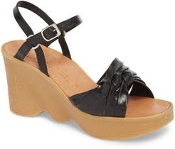 Knot So Fast Wedge Sandal, Size 6 M - Grey