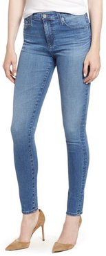 'The Farrah' High Rise Skinny Jeans, Size 25 - Blue