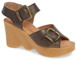 Double Vision Wedge Sandal, Size 9 M - Grey