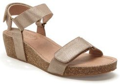 Adam Tucker Shea Wedge Sandal, Size 11 M - Metallic