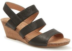 Adam Tucker Tora Wedge Sandal, Size 10 M - Black