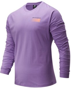 01537 Men's Sport Style Optiks Long Sleeve Tee - Purple (MT01537NVI)