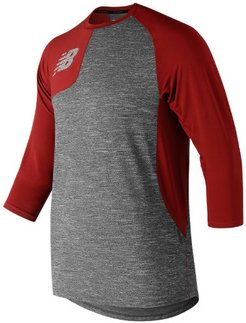83704 Men's Asym 2.0 Right 3/4 Sleeve - Red (MT83704RREP)