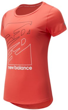 91137 Women's Printed Accelerate Short Sleeve v2 - Red (WT91137TOR)