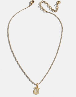Roxana Initial Charm Necklace-T