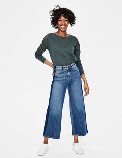York Cropped Jeans Light Vintage with side detail Women Boden