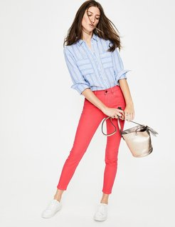 Cropped Soho Skinny Jeans Coral Sunset Women Boden