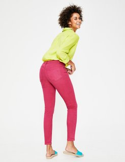 Cropped Soho Skinny Jeans Bright Pink Women Boden