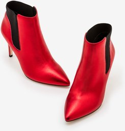 Astell Heeled Boots Red Metallic Women Boden
