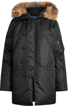 N3B Down Parka in Polo Black - Size S