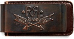 Tooled-Leather Money Clip in Copper - Size One Size