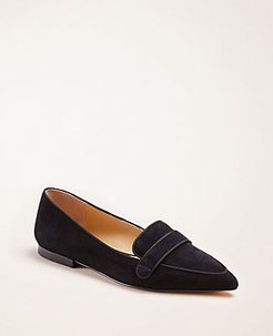 Luann Suede Loafer Flats