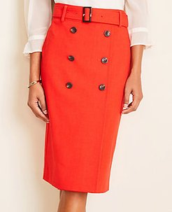 Trench Pencil Skirt