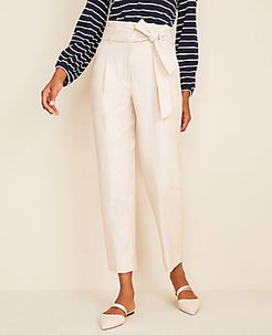 The Tall Belted Paper Bag Pant