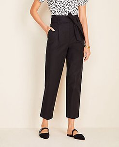 The Petite Paperbag Belted Pant