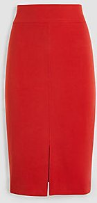 Topstitched Pencil Skirt