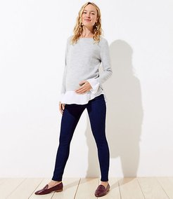 Maternity Soft Denim Pull On Leggings in Indigo