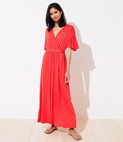 LOFT Beach Short Sleeve Maxi Dress