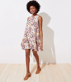 Paisley Floral Swing Dress