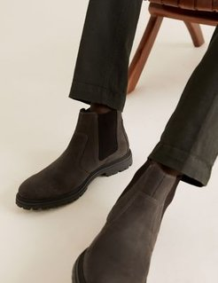 Marks & Spencer Leather Pull-On Chelsea Boots - Dark Brown - US 10.5 (UK 10)
