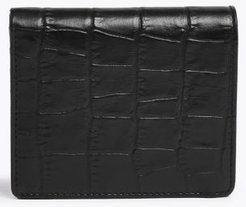 Marks & Spencer Mock Croc Leather Bi-Fold Cardsafe™ Wallet - Black - One Size