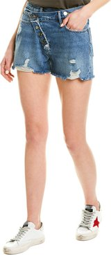 FRAME Denim Exposed Overlap Mazu Short