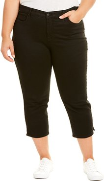 NYDJ Sideseam Plus Black Capri