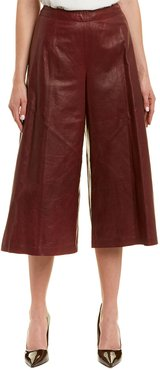 Lafayette 148 New York Thompkins Leather Culotte Pant