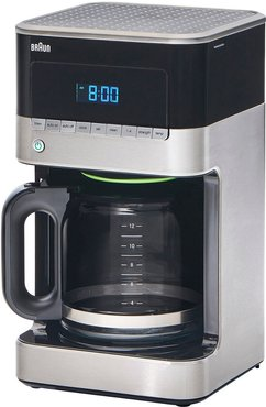 DeLonghi BrewSense 12-Cup Drip Coffee Maker with Brew Strength Selector & Glass FlavorCarafe