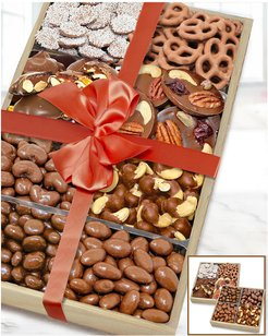 Chocolate Covered Company Large Milk Belgian Chocolate Covered Nut & Snack Gift Tray Set