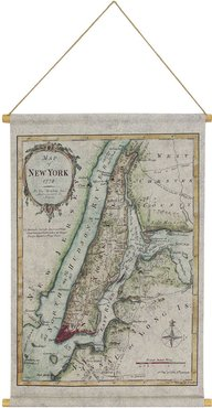 Habitat Map of NYC Hanging Linen Tapestry
